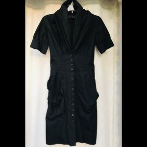 Allsaints Black Elma Shirt Dress